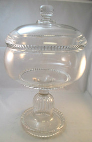 Vintage Glass Pedestal Bowl / Compote Candy Dish *