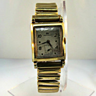 Vintage Wakmann Watch Co. 17 Jewels Watch with 10k Rolled Gold Plated and Stainless Steel Case and Band (300.3942A CB)