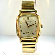 Antique Bulova Watch Co. 17 Jewels 10k Rolled Gold Plated and Stainless Steel Case and Band (300.3942H CB)
