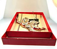 1982 Williamsburg Kirk Stieff Silverplate Christmas Angel Ornament with Original Box (500.932B CB)