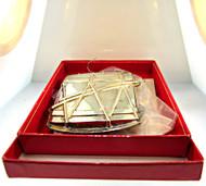 1987 Williamsburg Kirk Stieff Silverplate Christmas Drum Ornament with Original Box (500.932E CB)