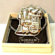 Kirk Stieff Christmas Toy Train Ornament with Gorham Box and Pouch (500938CB)