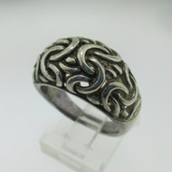 Sterling Silver Filigree Dome Ring Size 8*
