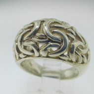 Sterling Silver Filigree Dome Ring Size 6*