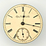 Antique 1890 Elgin National Watch Co. Movement and Dial Parts Steampunk (3004514CB)