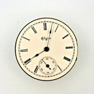 Antique 1897 Elgin National Watch Co. Movement and Dial Parts Steampunk (3004521CB)