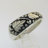 Sterling Silver Wheeler Manufacturing Company Black Hills Gold Style Ring Size 12