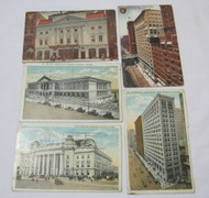 Early Vintage & Antique Chicago Buildings Postcards Lot of 5