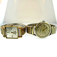 Two Vintage Watches Benrus 10k Rolled Gold Plated and Wyler 10k Gold Filled (3005242CB)