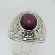 Sterling Silver Wisconsin State University Purple Stone Ring Size 9