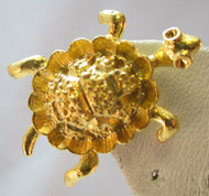 Vintage Gold Tone Sea Turtle Pin / Brooch*
