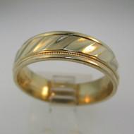 14k Yellow Gold Fredrick Goldman Designed Mens Band Size 9