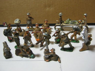 Vintage Military Lead Soldiers Toy Figures Lot of 18