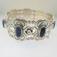 Sterling Silver Lapis Mexico ATI Bracelet
