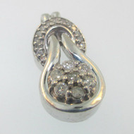 Sterling Silver Diamond Cluster Pendant