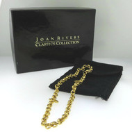 Gold Tone Unsigned Petite Chain Bracelet with Pouch in Joan Rivers Jewelry Box