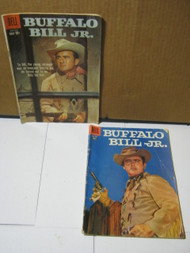 Buffalo Bill Jr. Dell Vintage Cowboy Western Comic Books