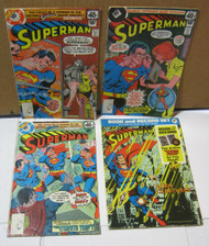 Superman Comic Lot of 4 Vintage Comic Books Whitman
