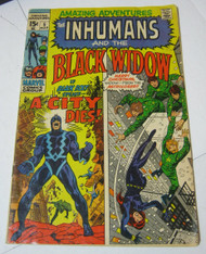 The Inhumans and the Black Widow Marvel Comic #5 Moon Monster Ad