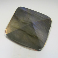 Sterling Silver Large Labradorite Ring Size 8