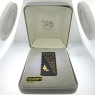 Coleman 10K & 12K Black Hills Gold Accented Detailed Money Clip Like New in Original Box