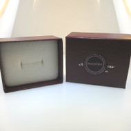 Maroon or Burgundy Empty Jewelry Ring Gift Box with Pandora Sticker Like New