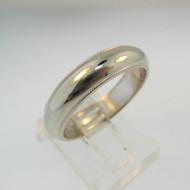14k White Gold Fredrick Goldman Ring Band Size 9