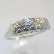 Vintage Platinum Approx .24ct/TW Diamond Ring Size 10