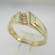 14k Yellow Gold Fredrick Goldman Diamond Wedding Band Ring Size 8 1/2