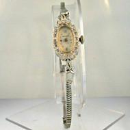 Vintage Hamilton Watch Co. 780 17 Jewels 14k White Gold Diamond Ladies Watch (B1012)
