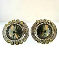 Vintage Silver Tone with Cubic Zirconia Cufflinks (300.1760G CB)