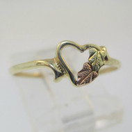 10K Black Hills Gold Coleman Company Heart Ring Size 6.5