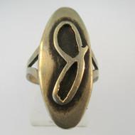 Vintage Sterling Silver Signet Initial J Ring Size 6