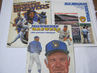 1983 & 1984 Milwaukee Brewers Baseball Vintage Programs