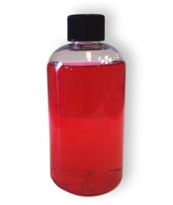8 Oz Boston Round PET Clear bottle with black cap