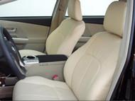 Prius V Clazzio Seat Cover Beige / Beige / Beige Stitching
