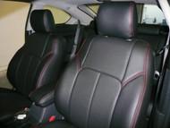 Black / Black / Red Clazzio Leather Seat Cover