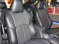Black / Black / Black Clazzio Leather Seat Cover