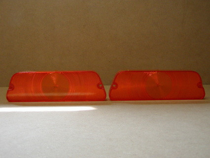AMBER LENSES, FITS 1970-1971 Dodge D100, D200, D300 lenses have the Penstar but also has some imperfections in the pouring of plasticSOLD AS SET