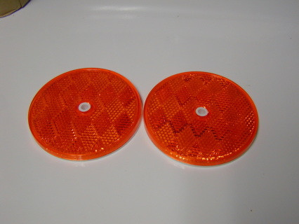 Pair of Amber Side marker lens, NEW reproduction and with all the DOT numbers on them