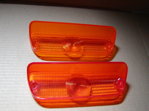 """Set of Amber Park Light lens that fits Dodge Trucks in the  years of 1972, 1973, 1974, 1975, 1976 D100""""s and D200's"""