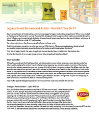 Legacy Brand Turnaround Artists