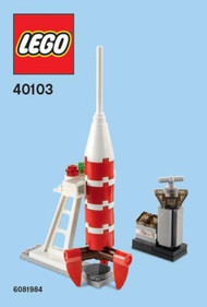Constructibles® Rocket Mini Model LEGO® Parts & Instructions Kit 40103