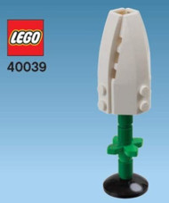 Constructibles® White Tulip Mini Model LEGO® Parts & Instructions Kit - 40039