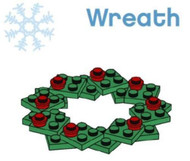 LEGO Christmas Wreath Parts & Instructions  Special Mini Model Build