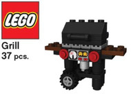 LEGO BBQ Grill Mini Model LEGO Parts & Instructions