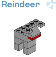LEGO Christmas Reindeer Parts & Instructions  Special Mini Model Build