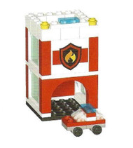 LEGO Mini Fire Station Parts & Instructions LEGO CLUB Mini Model Build