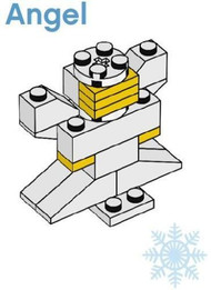 LEGO Christmas Angel Parts & Instructions  Special Mini Model Build