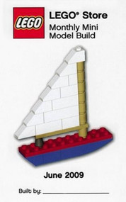 LEGO Sailboat Mini Build Parts & Instructions Kit